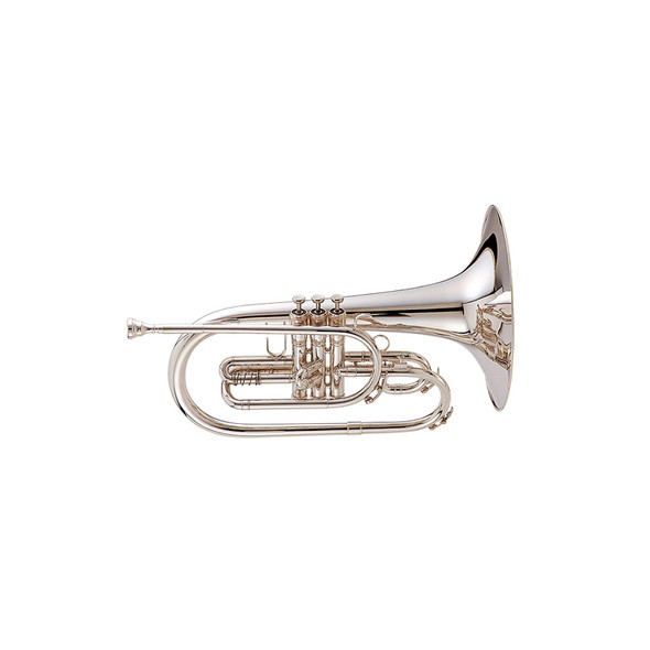 King Ultimate Marching Mellophone Model 1121 Silver Plate