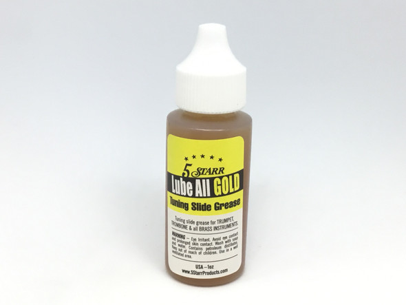 5 Starr Lube All Gold Tuning Slide Grease 1oz.