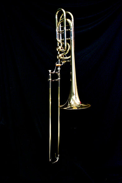 M&W 929 Large Bore Double Valve Bass Trombone Bb/F/Gb with Detachable Bell