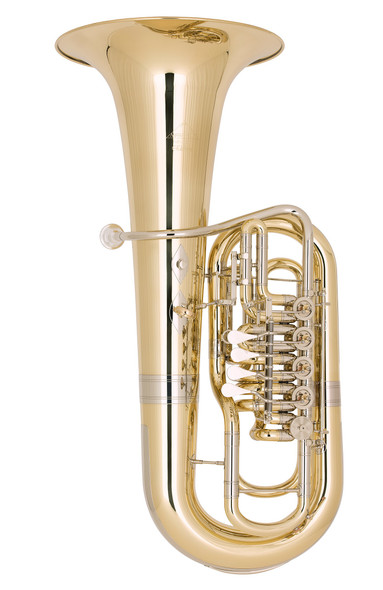 Miraphone F481B-5V (5 Valves in the Right Hand) Elektra F Tubain Yellow Brass