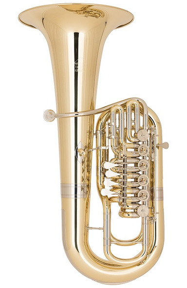 Miraphone F481C-6V (5V Right + 1V Left) Elektra F Tuba in Yellow Brass