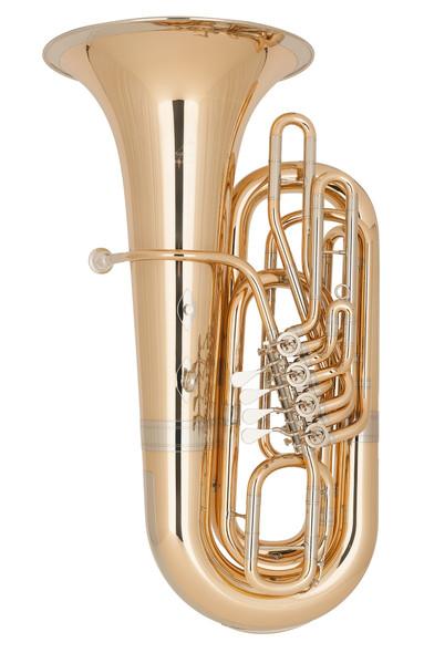 Miraphone Model BB289A BBb Tuba in Gold Brass