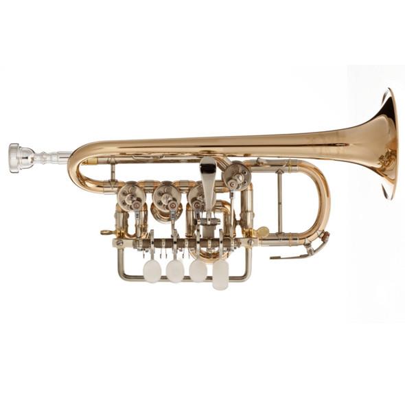 Scherzer 8111L Bb/A Rotary Piccolo Trumpet in Lacquer