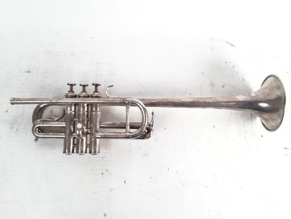 Used Evette & Schaeft Buffet Crampon long bell D Trumpet (SN: 4163)