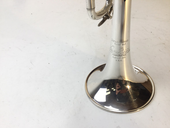 Used Bach Model 304S D ONLY Trumpet (SN: 158678)