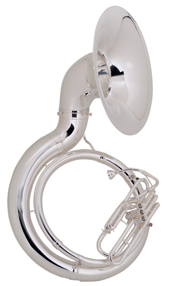 King 2350WSP Silver Plated Sousaphone with Case