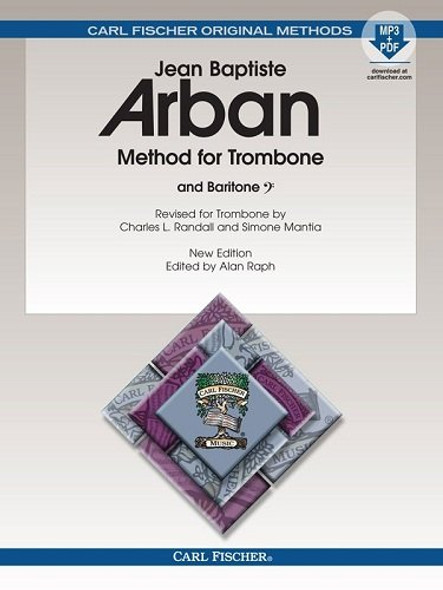 Method for Trombone New Edition Edited Spiral Bound, by Alan Raph Trombone, Baritone - Jean-Baptiste Arban Alan Raph
