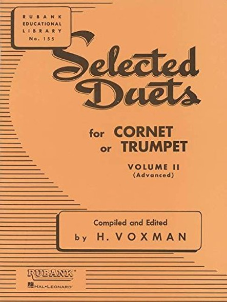 Selected Duets for Cornet or Trumpet Volume 2 - Advanced edited H. Voxman Ensemble Collection