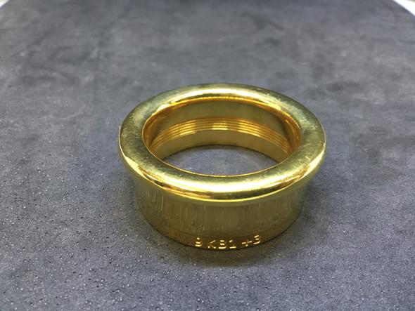 Used Latzsch 9KB1B 3 Gold Plate Contrabass Trombone Rim [841]