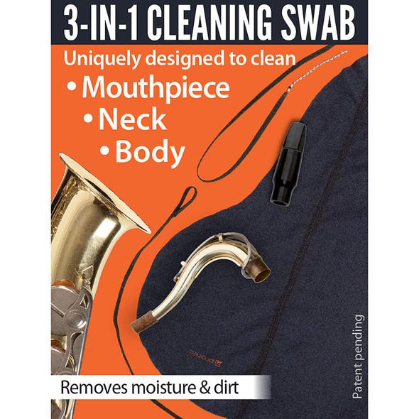 Protec Body, Neck & Mouthpiece Swab: Tenor Saxophone