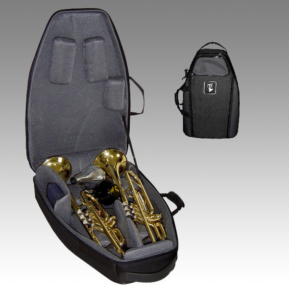 Marcus Bonna Flight Case for 2 Trumpets- Black
