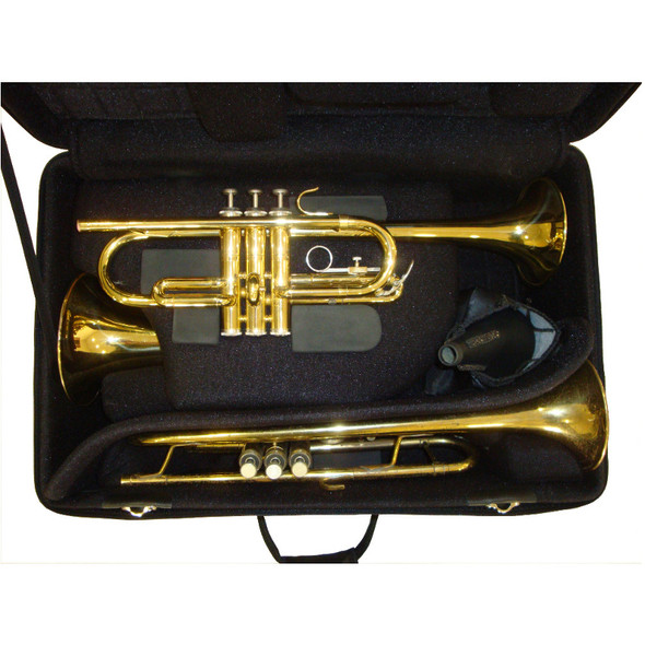 Marcus Bonna 2 Trumpets and Flugel Case- Black