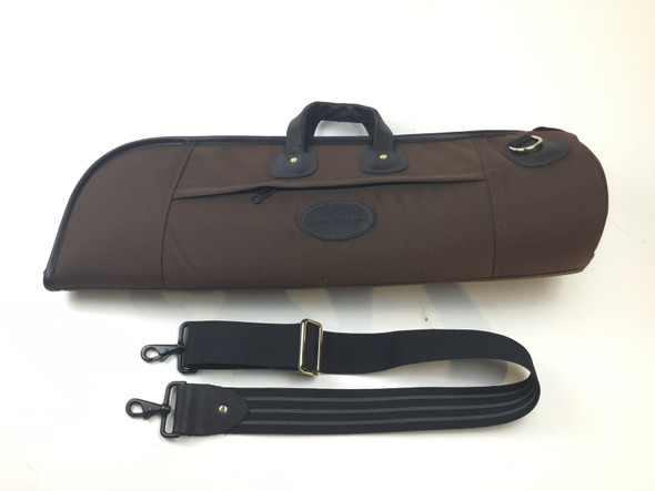 Used Cronkhite Brown Cordura Single Trumpet Case [202]