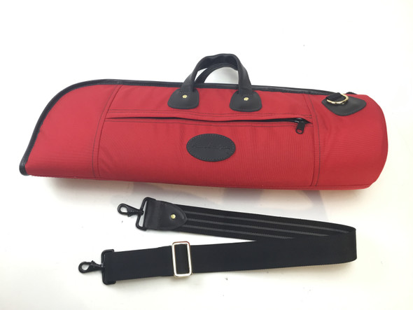 Used Cronkhite Red Cordura Single Trumpet Case [199]