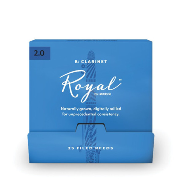 D'Addario Rico Royal Bb Clarinet 25-Count Single-Sealed Reeds