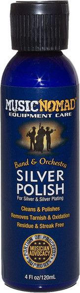 Music Nomad Silver Polish for Silver and Silver Plating 4 oz.