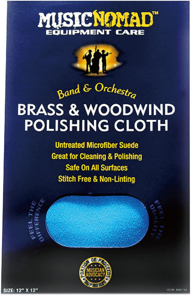 "Music Nomad Brass & Woodwind Untreated Microfiber Polishing Cloth 12"" x 12"