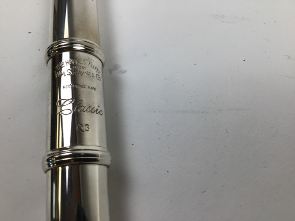 Demo Haynes Classic Q3 Flute Offset G, B Foot (SN: 3437)