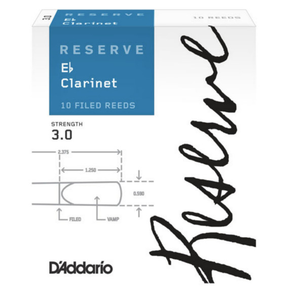 D'addario Reserve Eb Clarinet Reeds, Box of 10