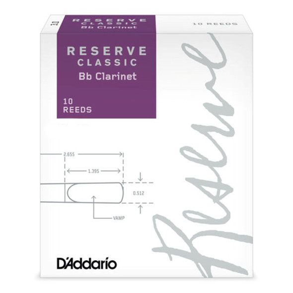 D'Addario Reserve Classic Bb Clarinet Reeds 10 Pack