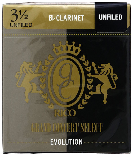 Rico Grand Concert Select Evolution for Bb Clarinet, Box of 10
