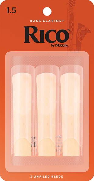 Rico Bass Clarinet Reeds Pack of 3