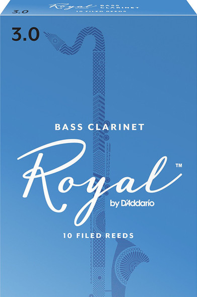 Rico Royal Bass Clarinet Reeds Pack of 10