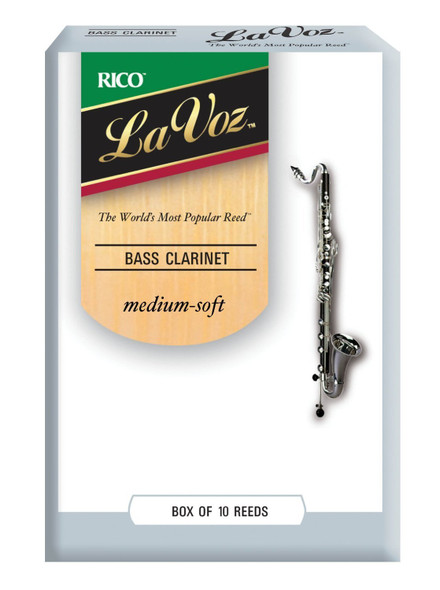 Rico La Voz Bass Clarinet Reeds, Box of 10