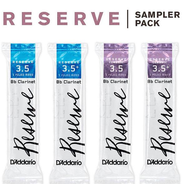 D'Addario Reserve Bb Clarinet Reed Sampler Pack