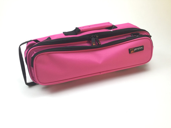 Used Protec Deluxe Pink/Fuchsia Flute Case Cove with Piccolo