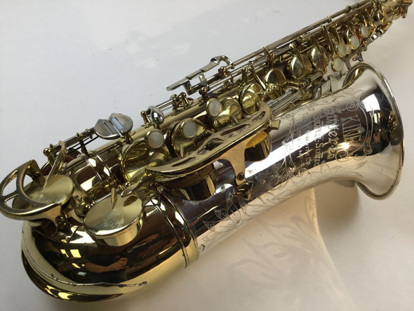 "Used King Super 20 ""Silver Sonic"" Alto Saxophone (SN: 390796)"