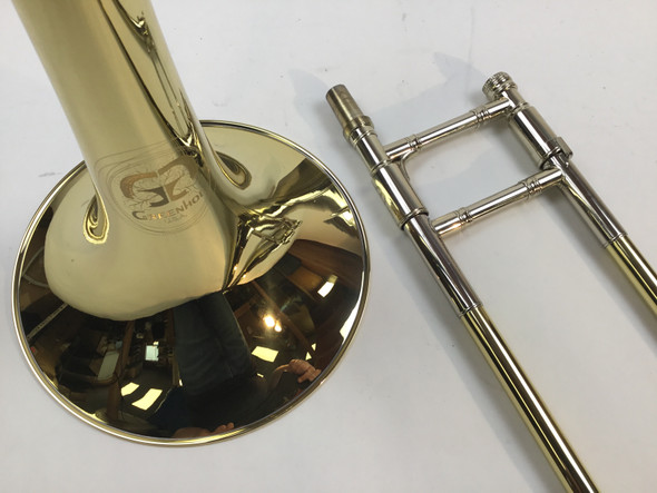 "Demo Schilke ""GB4 Greenhoe"" Bb/F Tenor Trombone  (SN: 5211)"