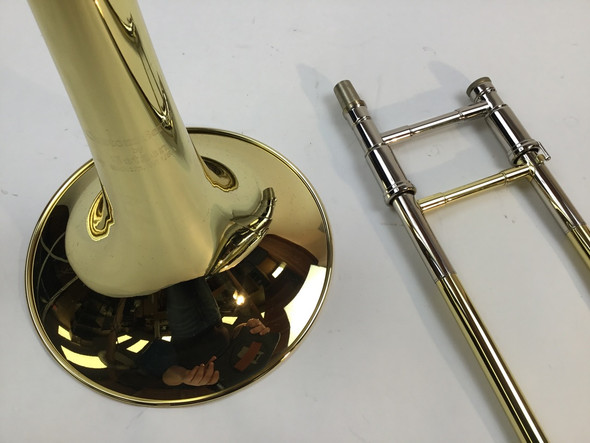 Demo Getzen 3047AF Bb/F Tenor Trombone Yellow Brass Bell (SN: 5443)