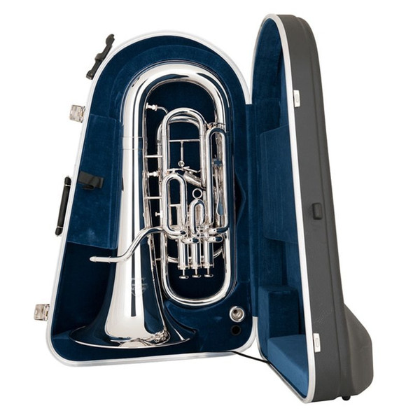 Miraphone M5050T-SP-WC 4 Valve Compensating Euphonium, with trigger and case, Silver Plate