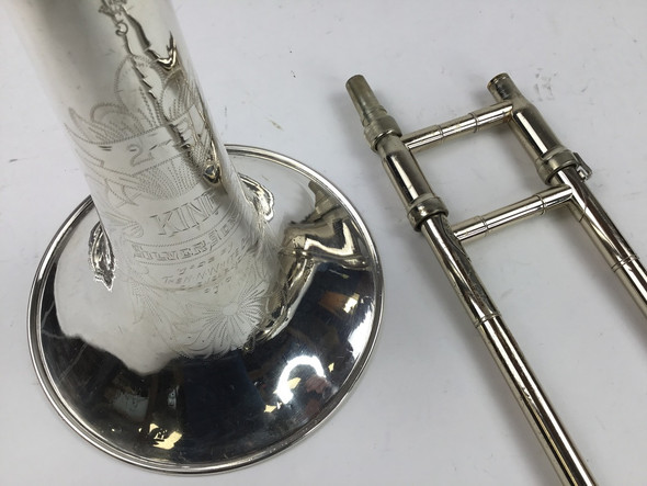 Used King 2B Silver Sonic Bb Tenor Trombone (SN: 3938)