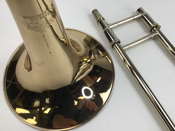 Used Bach LT50A3G Bb/F/Flat G/D Bass Trombone (SN: 167936)