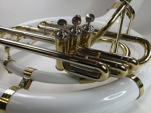 Used Dillon Fiberglas sousaphone (SN: 0314124)