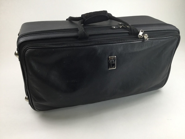 Used Marcus Bonna Compact Case for 3 Trumpets - Black Leather [23925]