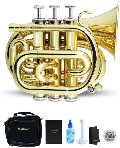CarolBrass Mini Pocket Trumpet Key of C