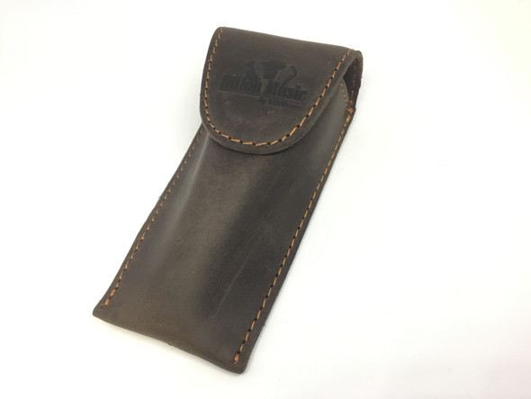 Dillon Music Brown Leather Small Brass Mouthpiece Pouch