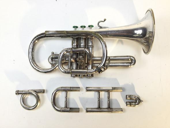 Used F. Besson Brevetee Bb Cornet (SN: 11047)