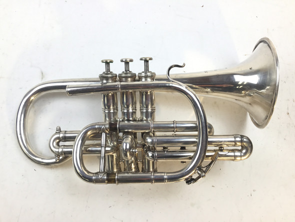 Used French Besson Brevete Bb Cornet (SN: 63168)
