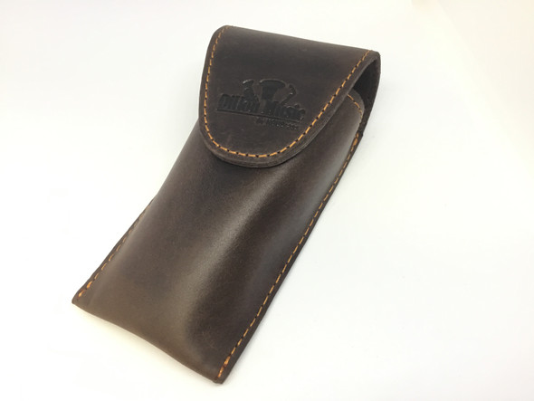 Dillon Brown Leather Trombone Single Mouthpiece Pouch