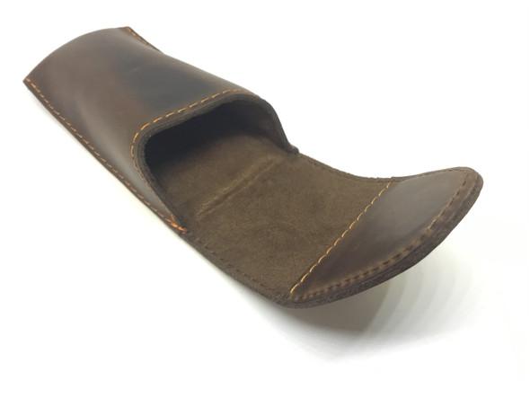 Dillon Brown Leather Trombone Single Mouthpiece Pouch