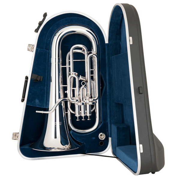 Miraphone 1258A 4 Valve Silver Plated Compensating Euphonium w/ case