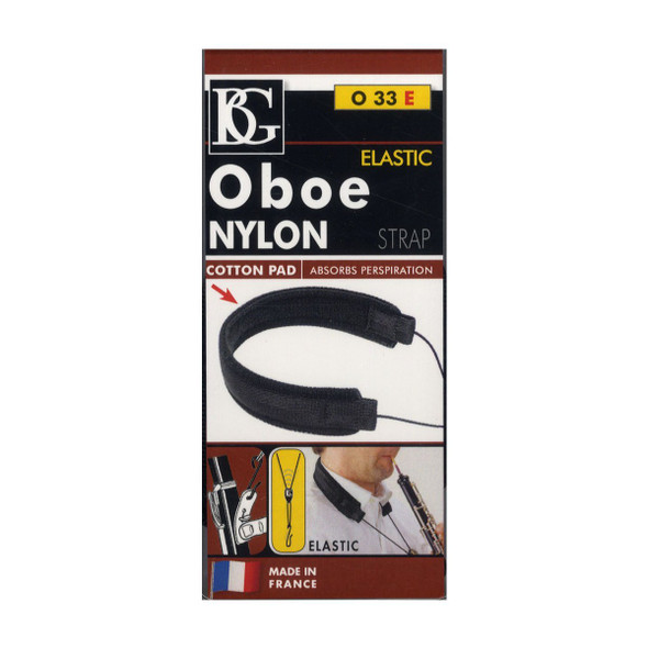 Oboe Nylon Strap, Elastic, 2 LP Connect