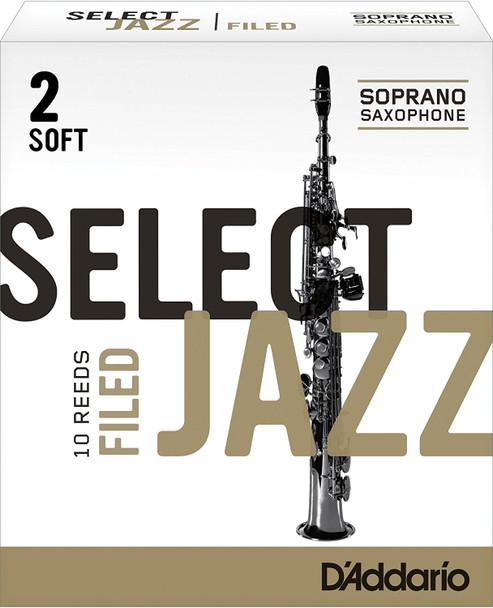 D'Addario Select Jazz Filed Soprano Sax Reeds, Box of 10
