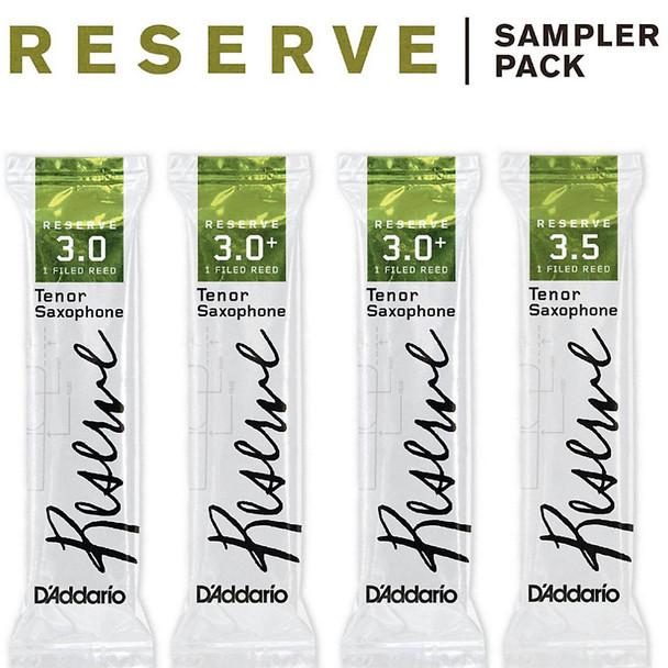 D'Addario Reserve Reed Sampler Packs, Tenor Saxophone