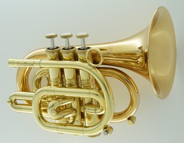 Carol Brass Pocket Trumpet in Lacquer