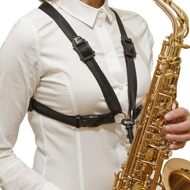 BG S41SH Ladies' Alto/Tenor Saxophone Harness with Snap Hook